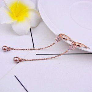 Henri Bendel Pearl Detachable Rose Gold Earrings